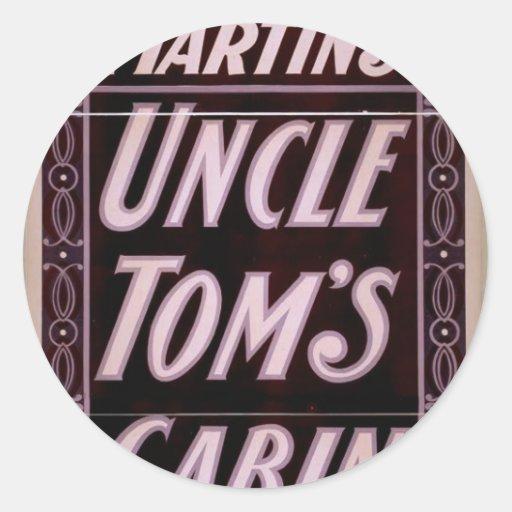 Cabina de tío Tom Pegatina Redonda