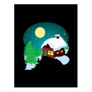 Cabina del invierno postales