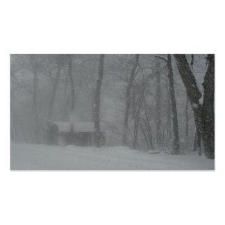 Cabina del invierno tarjetas de visita