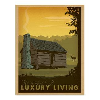 Cabina del lago - vida de lujo postales