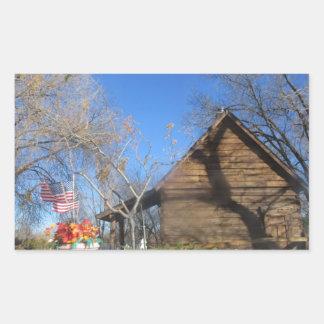 Cabina del mormón de Arizona Rectangular Pegatinas
