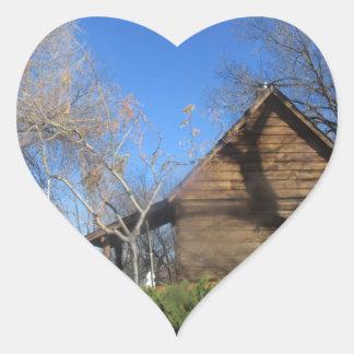 Cabina del mormón de Arizona Calcomania De Corazon