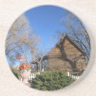 Cabina del mormón de Arizona Posavasos Manualidades