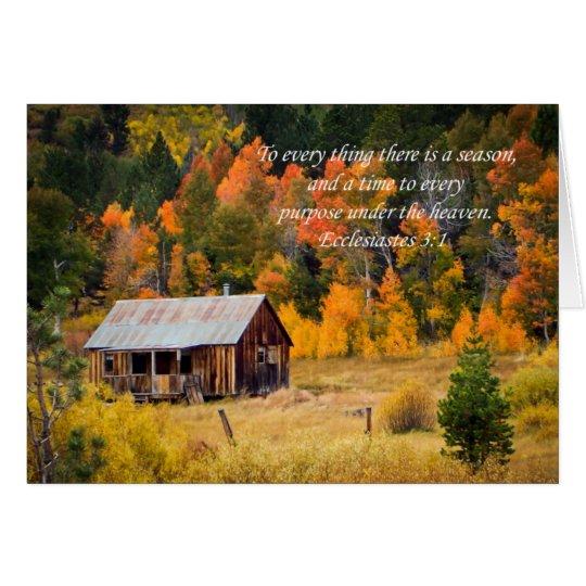 Cabina del valle de la esperanza tarjeta de felicitación