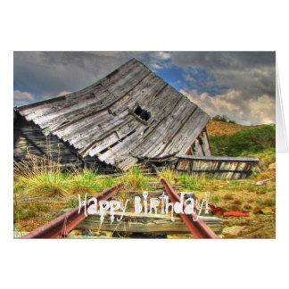 Cabina descompuesta; Feliz cumpleaños Tarjeta Pequeña