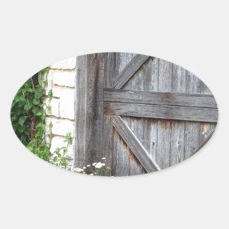 Cabina Door.JPG Pegatina Ovalada