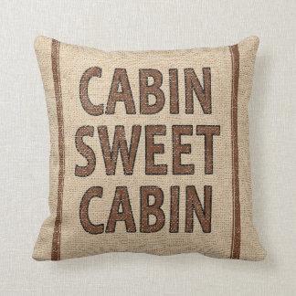 Cabina dulce de la cabina en el saco de la harina almohada