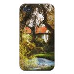 Cabina en las maderas iPhone 4 cobertura