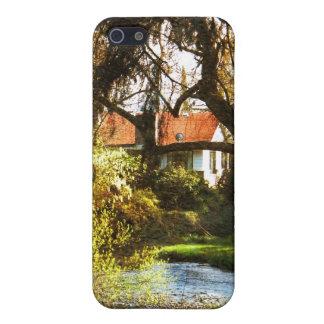 Cabina en las maderas iPhone 5 funda