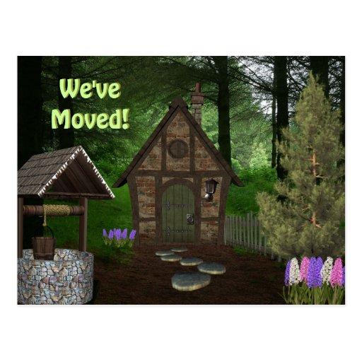 Cabina en las maderas que mueven las postales del