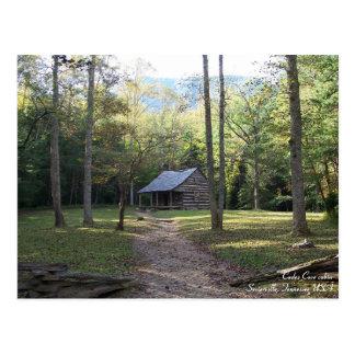 Cabina en las montañas ahumadas, Tennessee Tarjeta Postal