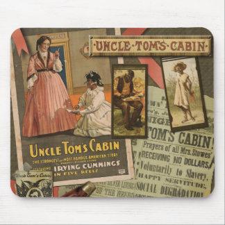 Cabina Mousepad de tío Tom del vintage