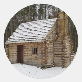 Cabina Nevado Pegatina Redonda