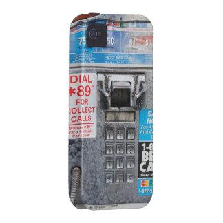 Cabina pública divertida del teléfono público Case-Mate iPhone 4 carcasas