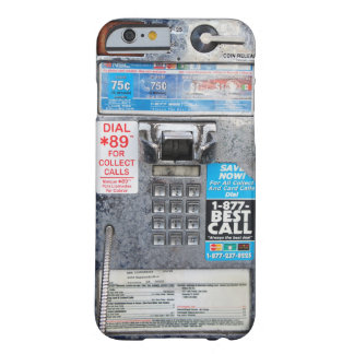 Cabina pública divertida del teléfono público funda de iPhone 6 barely there