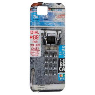 Cabina pública divertida del teléfono público iPhone 5 funda