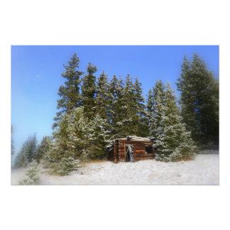 Cabina rústica de Colorado Fotografias
