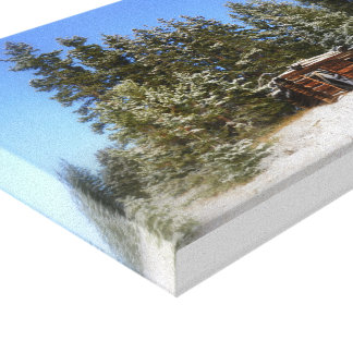 Cabina rústica de Colorado Impresión En Lona