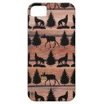 Cabina salvaje de la montaña del desierto del lobo iPhone 5 fundas