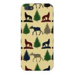 Cabina salvaje de la montaña del desierto del lobo iPhone 5 coberturas