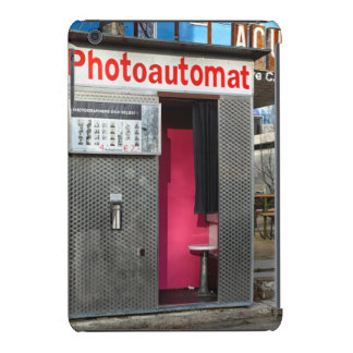 Cabina vieja de la foto en Berlín, Alemania Fundas De iPad Mini