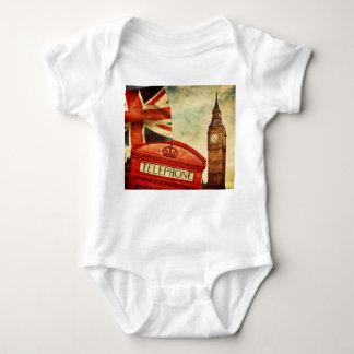 Cabina y Big Ben de teléfono roja en Londres, Body Para Bebé