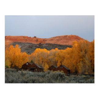 Cabinas azules del Mesa de Colorado en postal del