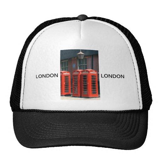 Cabinas de teléfonos rojas de Londres Gorros Bordados