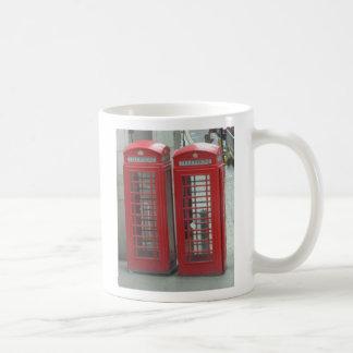 Cabinas de teléfonos rojas de Londres Taza De Café