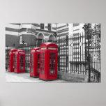 Cabinas de teléfonos rojas impresiones