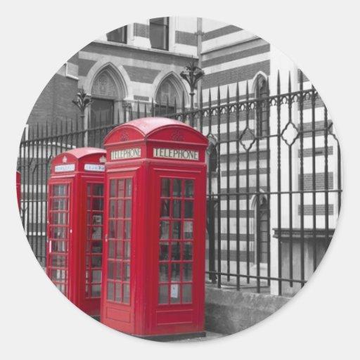 Cabinas de teléfonos rojas pegatina