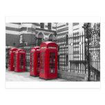 Cabinas de teléfonos rojas tarjetas postales