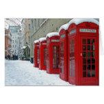 Cabinas de teléfonos rojas tarjeton