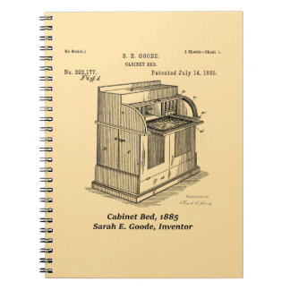 Cabinet Bed, Sarah E. Goode, Inventor Notebook
