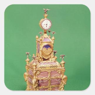 Cabinet clock, c.1766 square sticker