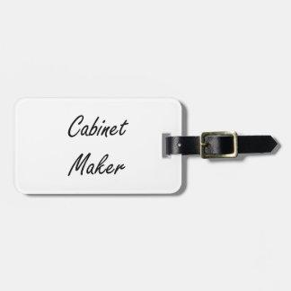 Cabinet Maker Artistic Job Design Bag Tag