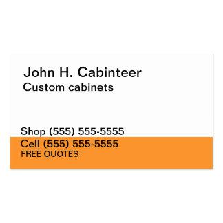 Cabinet maker business cards