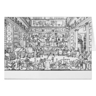 Cabinet of physics, 1687 greeting card