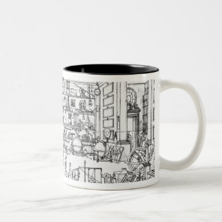 Cabinet of physics, 1687 coffee mugs