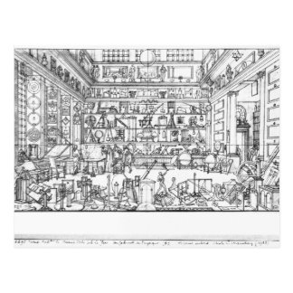 Cabinet of physics, 1687 post cards