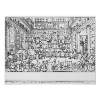 Cabinet of physics, 1687 poster