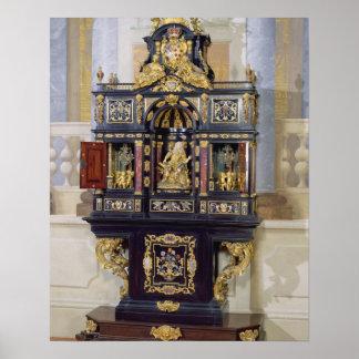 Cabinet of the Electress Palatine, c.1704 (ebony, Poster
