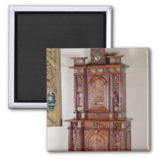 Cabinet with two sections, and a double door 2 inch square magnet