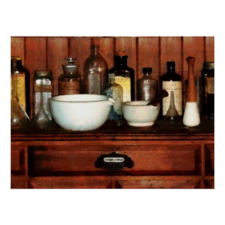 Cabinets and Mortar and Pestles Poster