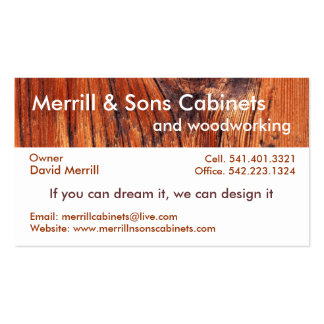 Cabinets or Woodworking Business Card Template