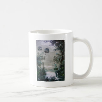 Cabins Along the Misty River Coffee Mug