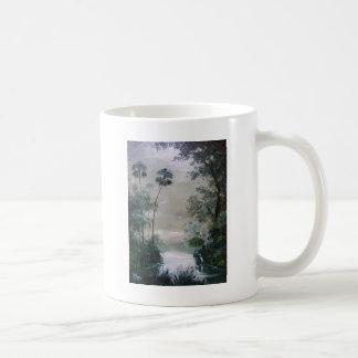 Cabins Along the Misty River Mug