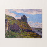 Cabins at Sainte-Adresse Monet Fine Art Jigsaw Puzzle