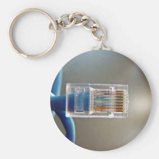 Cable azul de Ethernet CAT5 Llavero