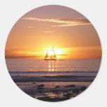 Cable Beach Sunset Round Sticker